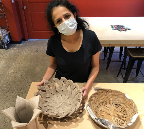 Beautiful clay basket by Preeta