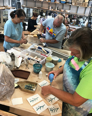 Saturday hand buidling students at work