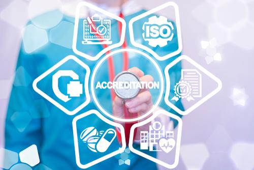 Accreditation Medicine Concept. Accredited Healthcare.