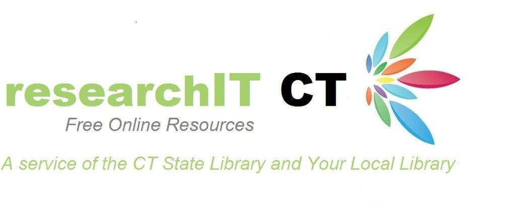 researchIT CT logo - Free online resources - A service of the CT State Library and your local library