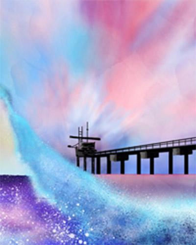 artwork of Breaking Wave by Tammy Tran