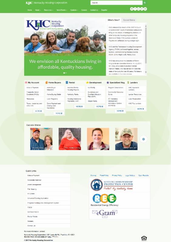 Example of  New Website Look