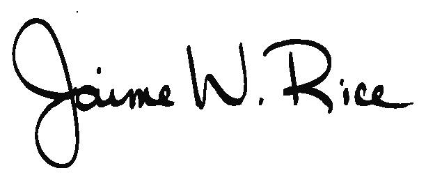 Jaime Rice's Signature
