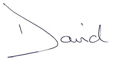David Healy Signature (First Name)
