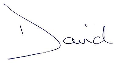 David Healy Signature (First Name)