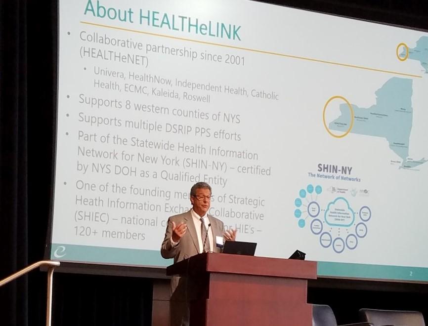 Dan Porreca presenting at New England HIMSS Conference