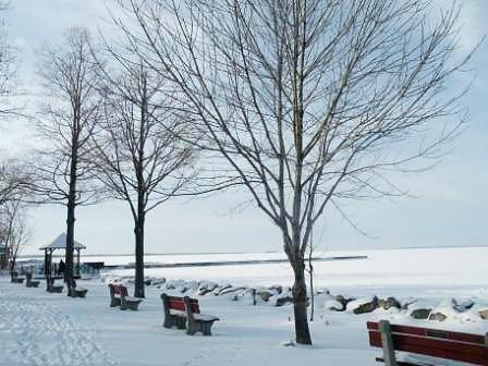 Lakefront Snow