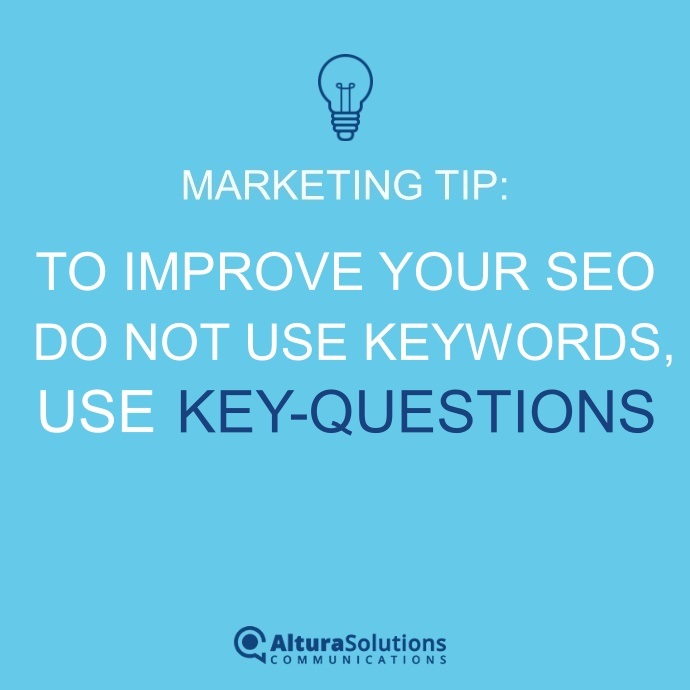 to improve SEO forget keywords use key questions