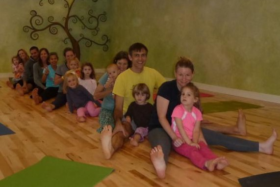 Family Yoga at Heartspace Yoga and Healing Arts in Troy was so much fun today.  Kids and parents all got to come together and play on the mats. Many thanks to all who joined in and to instructor Tracy Swanson for helping us channel our inner frog.