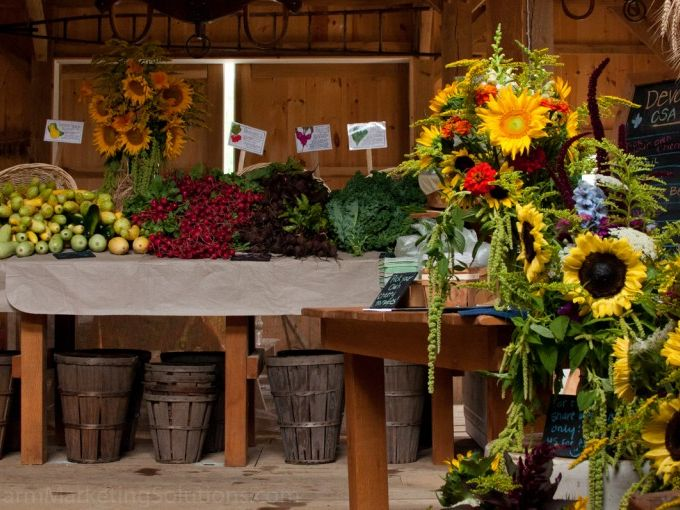 flower, market, produce
