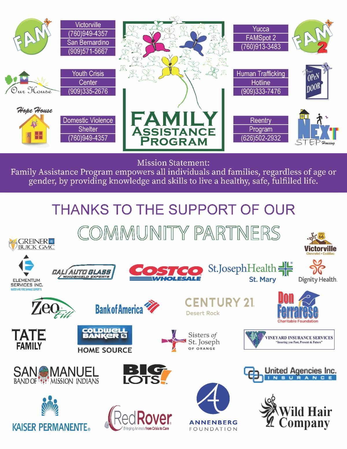 community partner logos
