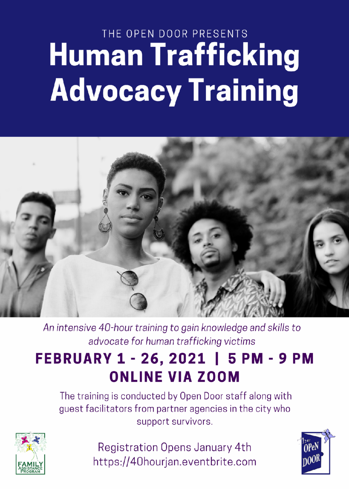 poster for human trafficking advocacy training