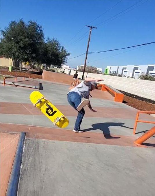 skateboarder falling down
