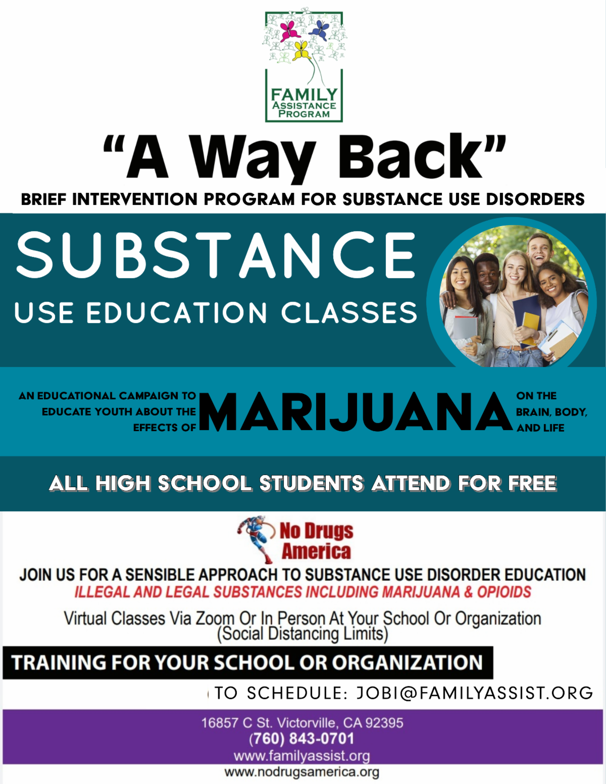 substance use education classes ad