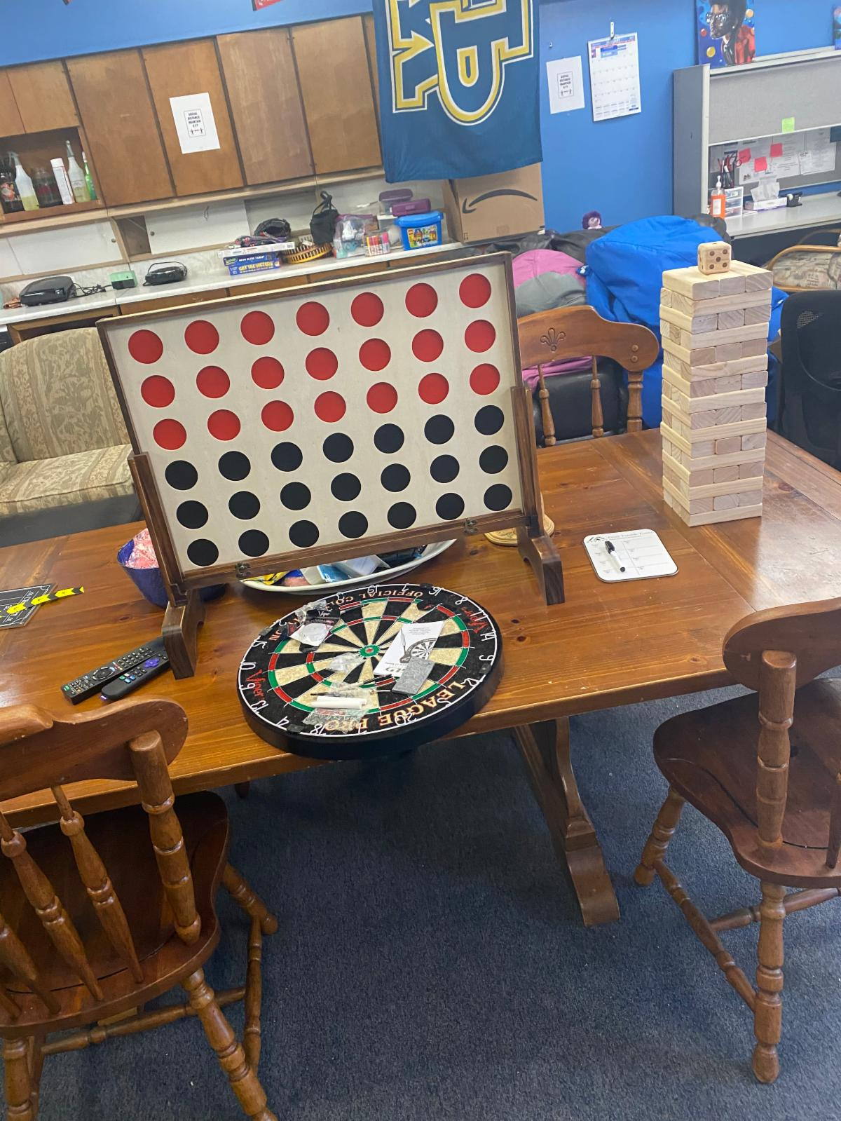 table with games