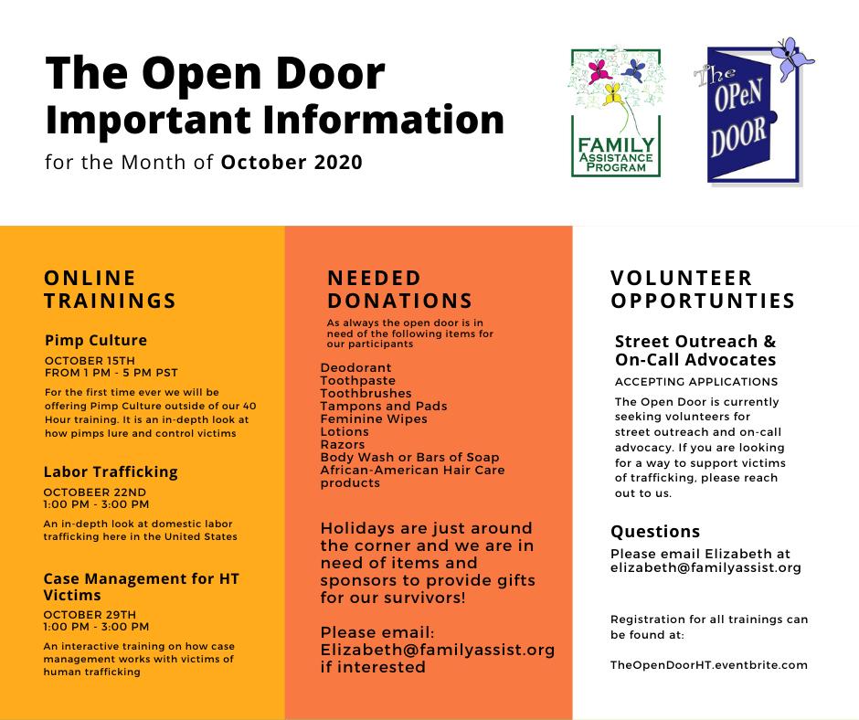 the open door important information