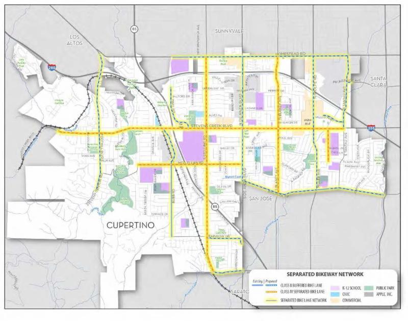 Separated Bikeway Network