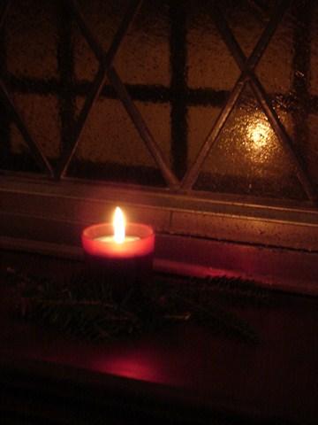 Candle reflection