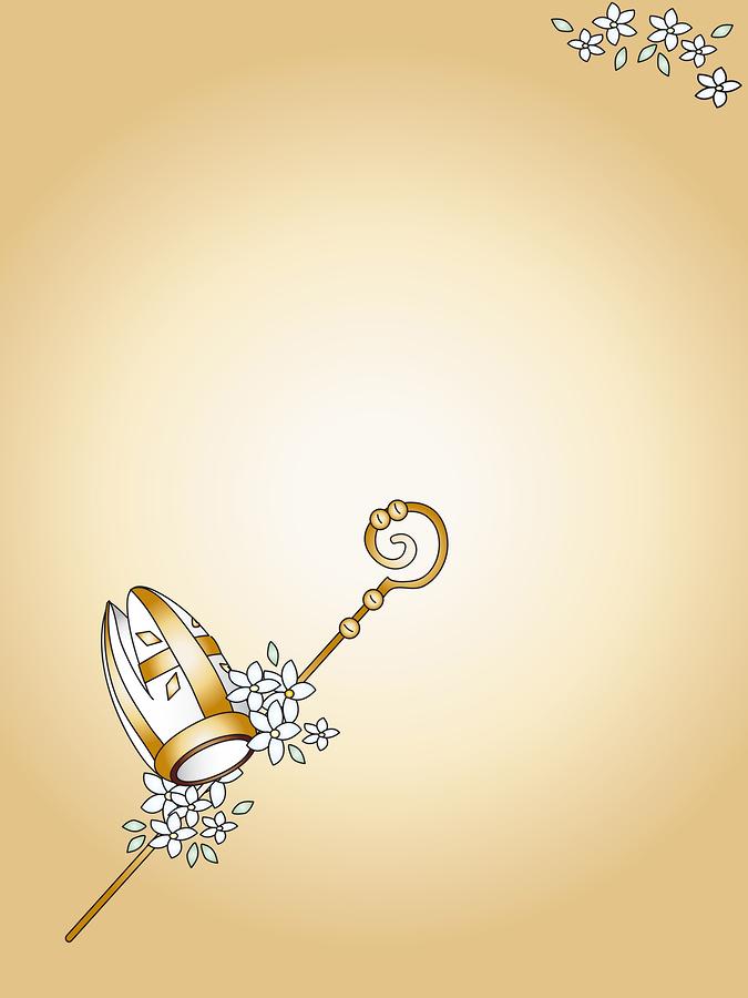 a illustration for holy confirmation  elegant card