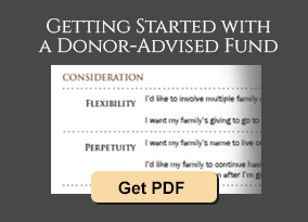 Getting Started with a Donor-Advised Fund