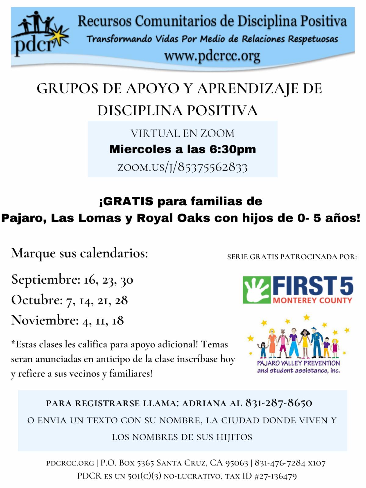 Pajaro Las Lomas class series for families