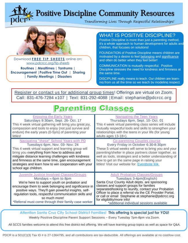 PDCR program flyer