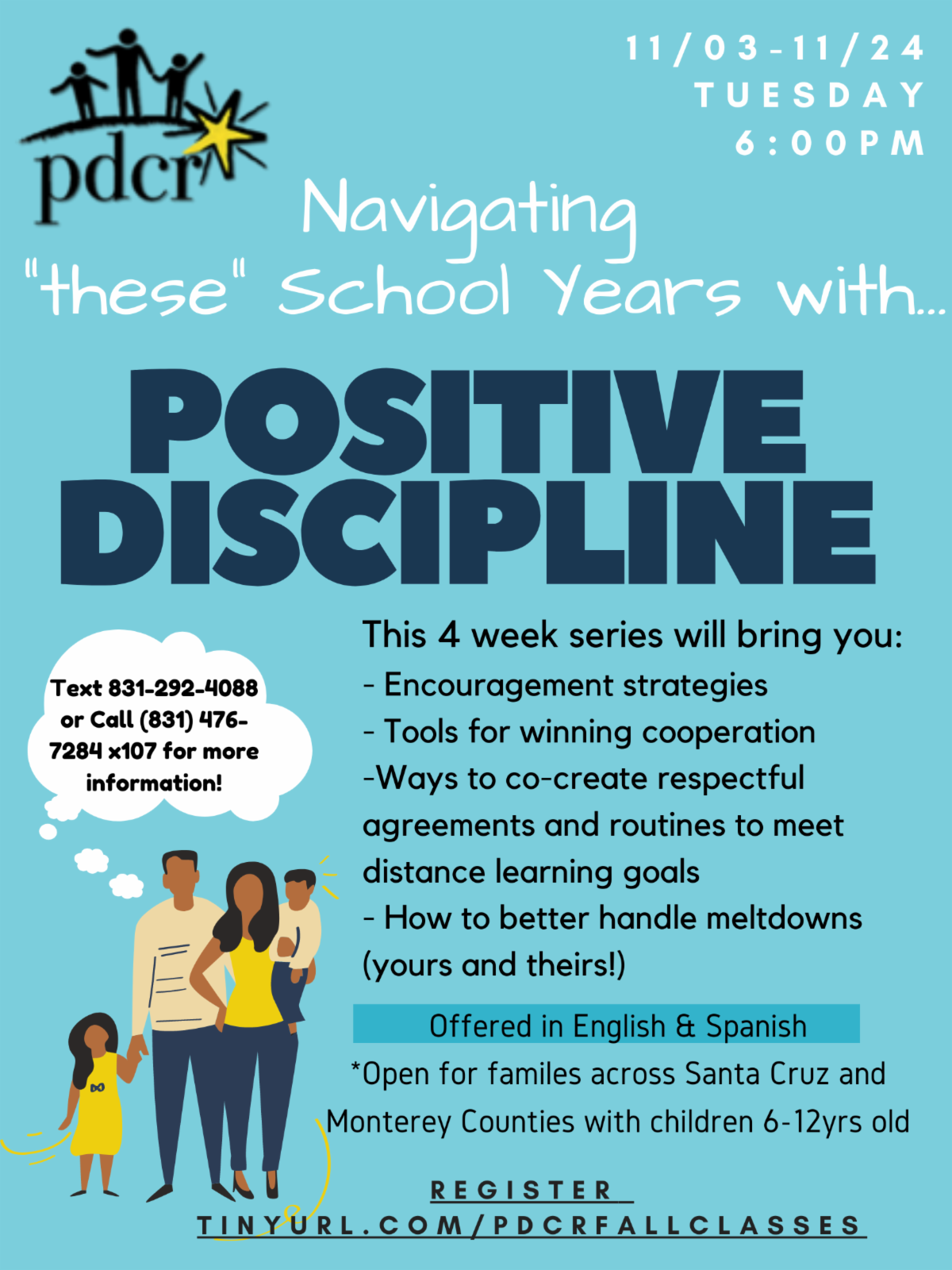 Positive Discipline support for families