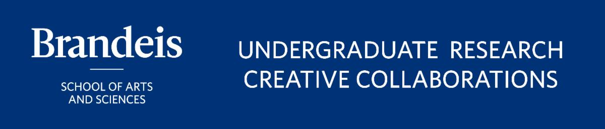 Brandeis blue logo for the office of Undergraduate Research & Creative Collaborations out of the School of Arts & Sciences.