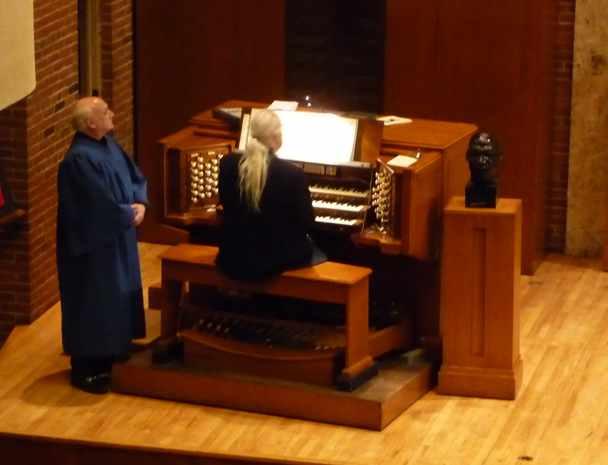 Jerry and Jonathan at organ