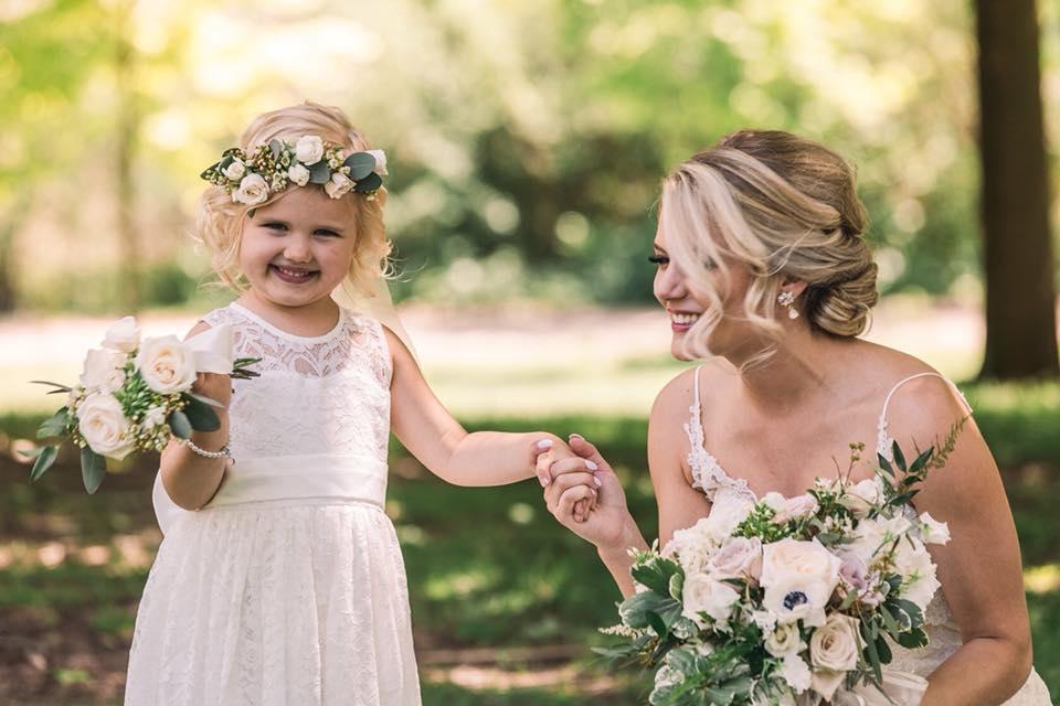 flowers for children at weddings