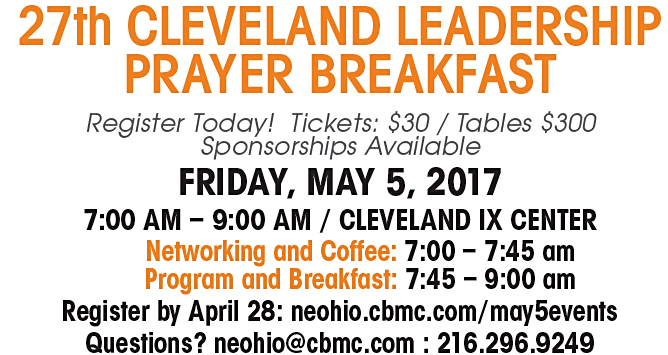 May 5, 2017 - Cleveland Leadership Prayer Breakfast & Akron
