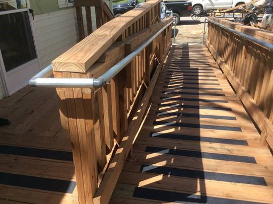 large newly constructed accessible ramp at a consumers home