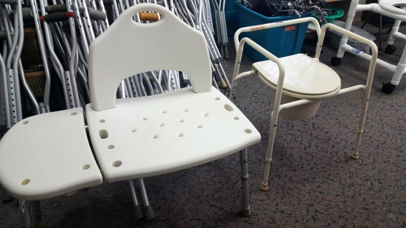 medical equipment including shower chairs and commodes