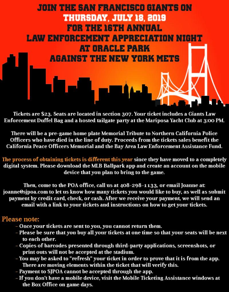 July 11, 2019 – San Jose Police Benevolent Association