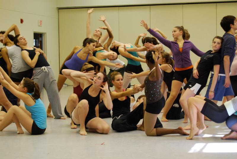 Student dancers rehearsing at the New York State Summer School of the Arts