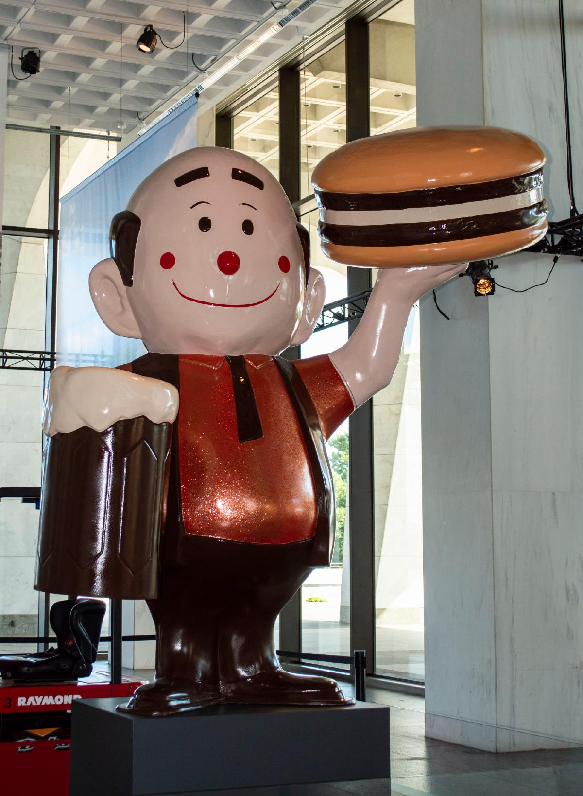 Reconstructed Papa Burger Statue