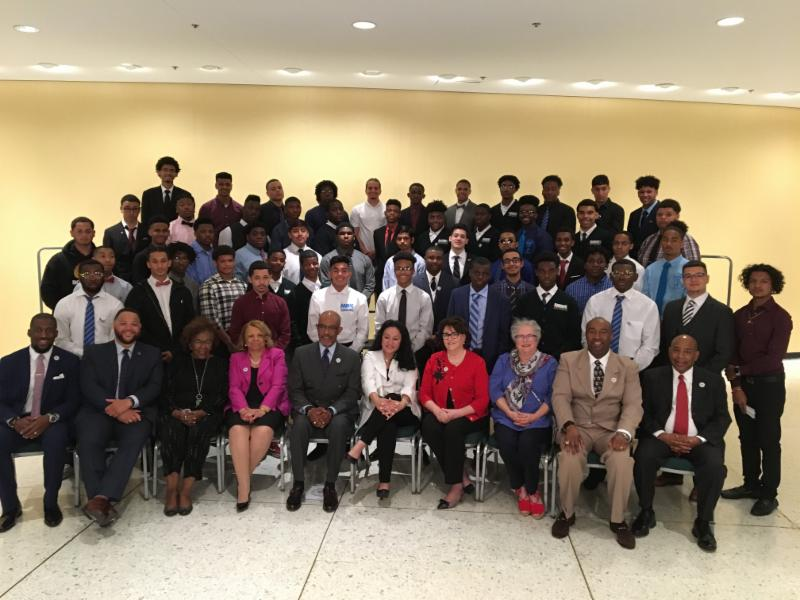 2019 MBK Fellows with Regents_ Commissioner Elia_ and NYSED staff