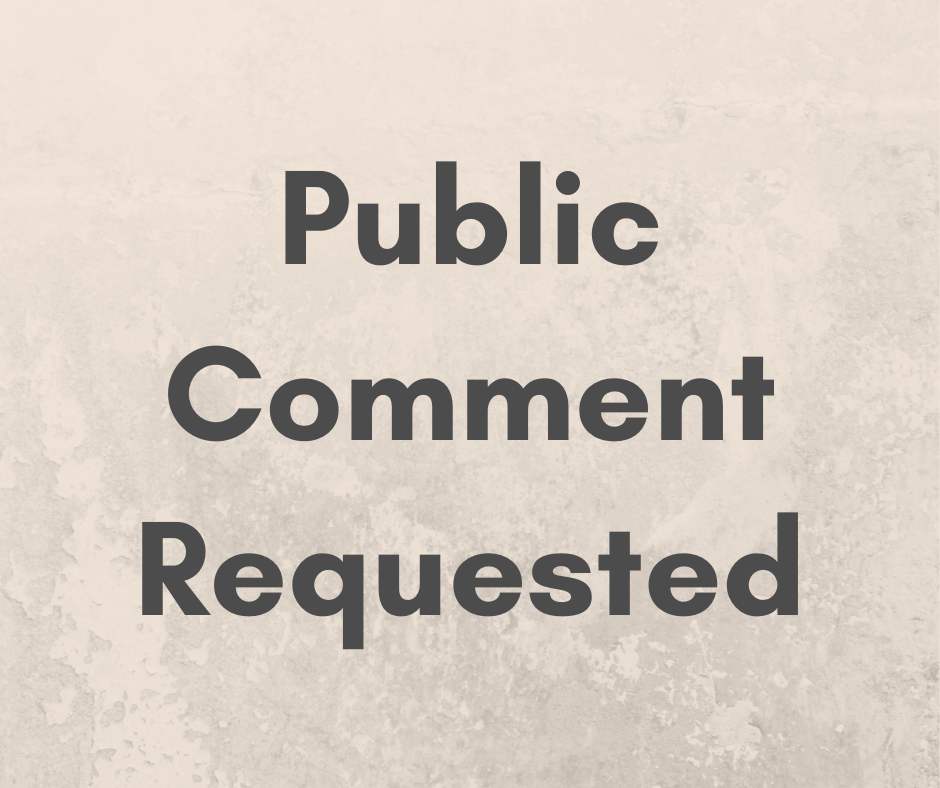 public comment requested
