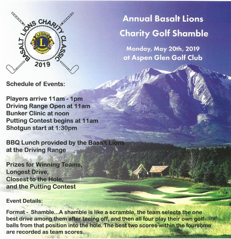 2019 Basalt Lions Golf