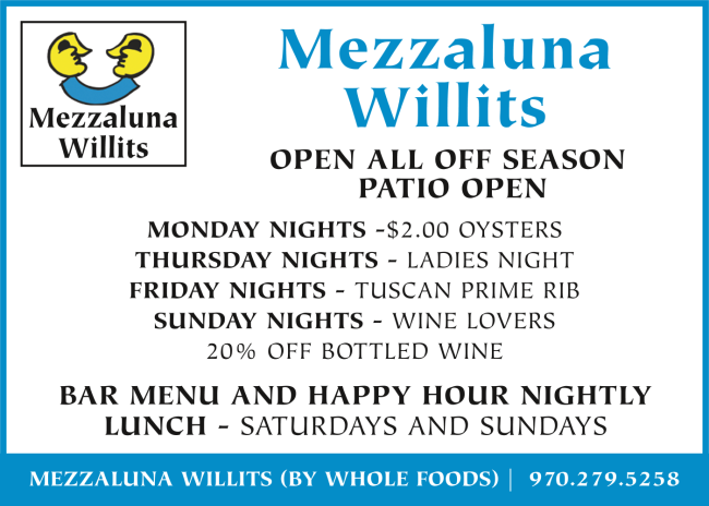Mezzaluna Willits April 2019