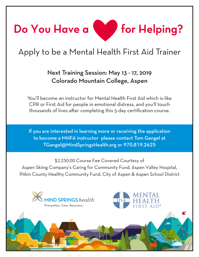 Mental Health First Aid 2019