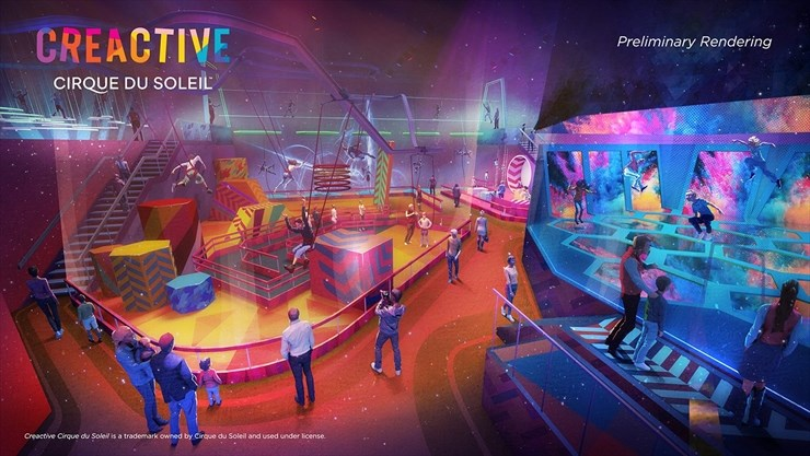 Concept rendering of the creactive space