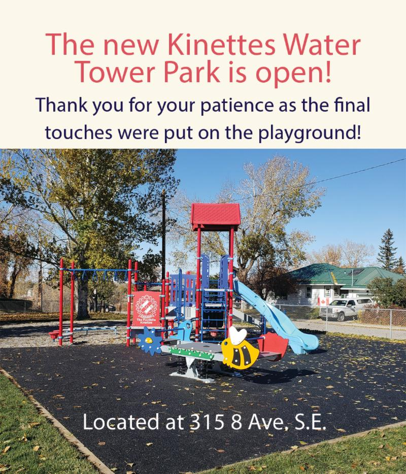 Kinettes water tower park open