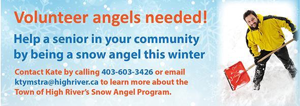 Volunteer to be a snow angel