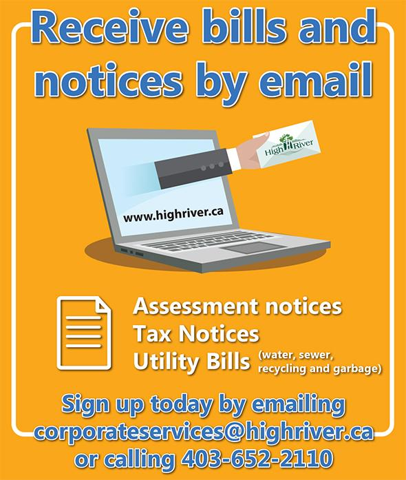 Receive bills and notices by email