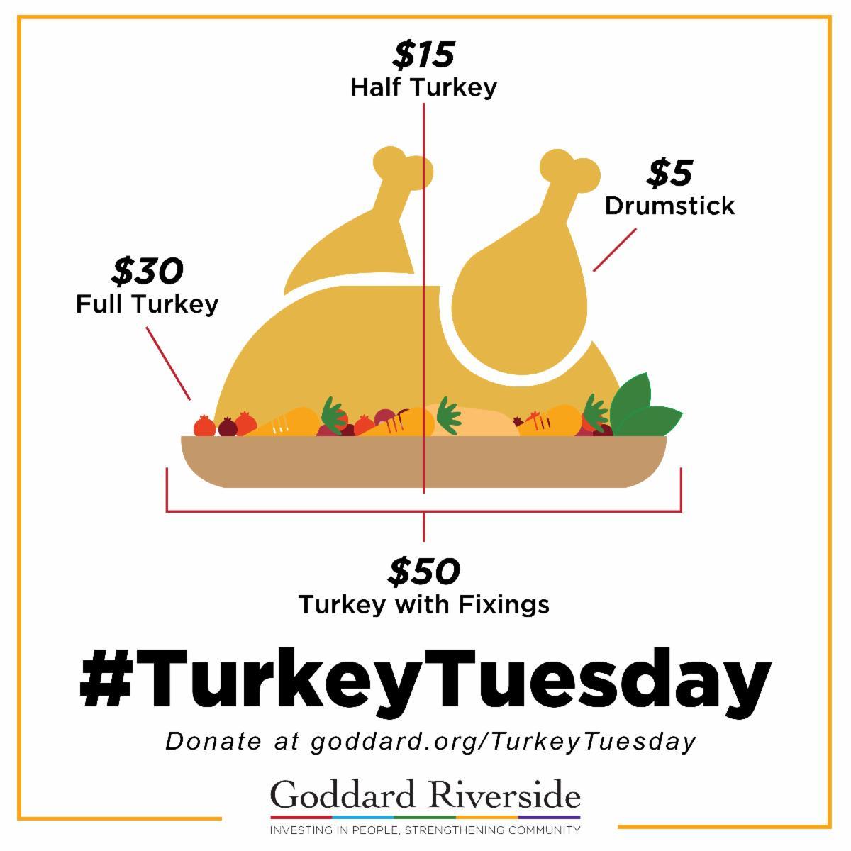 Support Turkey Tuesday at goddard.org/TurkeyTuesday