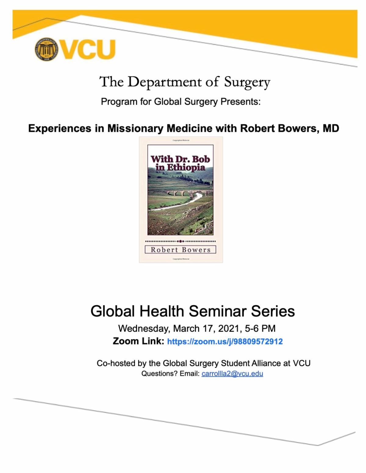 Global Health Seminar Series March