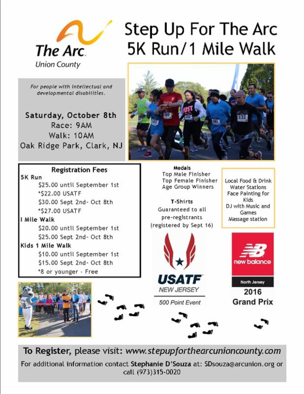 Step Up For The Arc 5K Run/1 Mile Walk