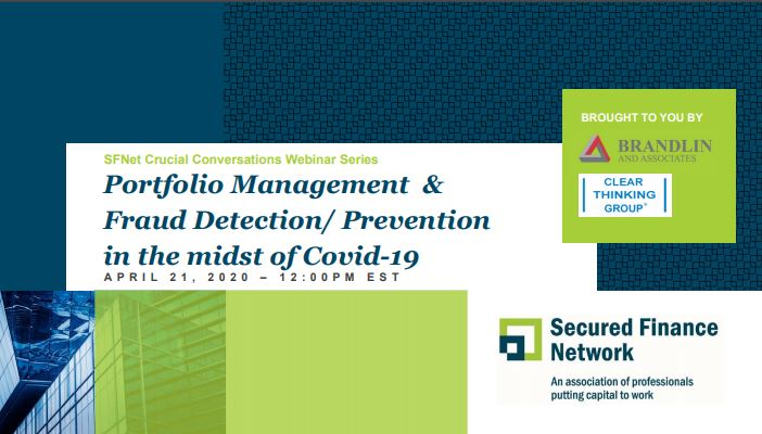 Portfolio Management and Fraud Detection/Prevention in the Midst of COVID-19