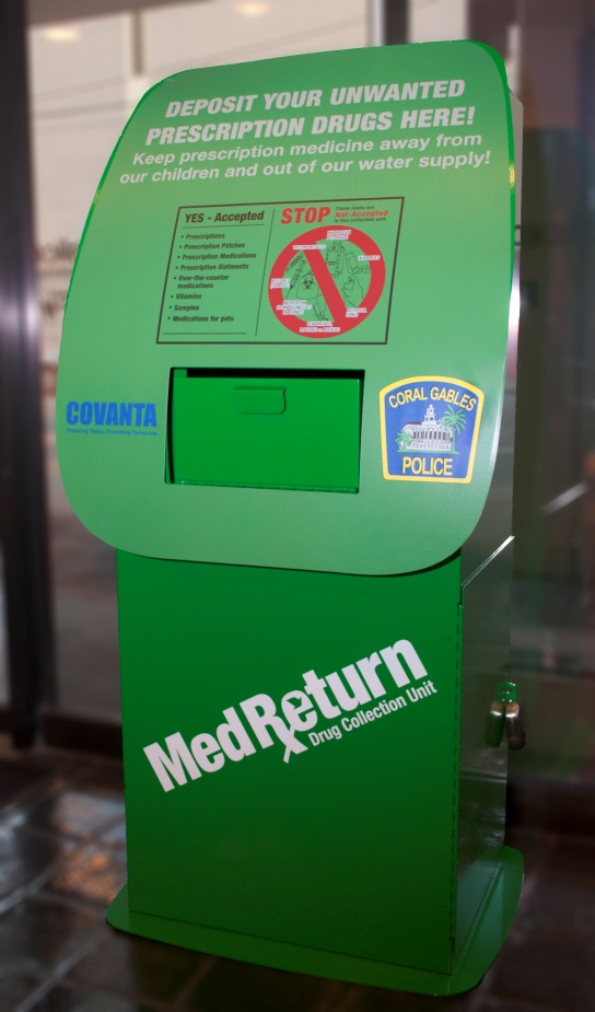 deposit bin for medicines